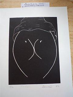 Armando Bandini Allusione Fasac Incisione Su Linoleum Altre Opere 1982