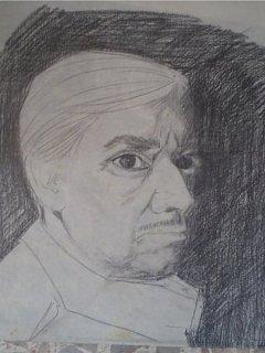 Armando Bandini Corrucciato Ritratto Da Daniela Igliozzi Carboncino Altre Opere 1984