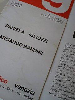 Armando Bandini Daniela Igliozzi Esposizione Segno Grafico Venezia 2 Altre Opere 1982