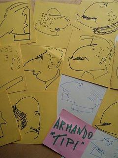 Armando Bandini Tipi Di Caricature Di Volti Altre Opere 1990