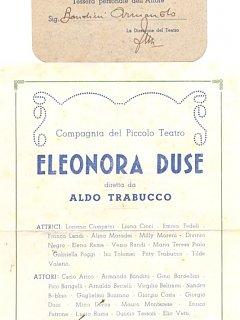 Armando Bandini Compagnia Teatrale Piccolo Teatro Eleonora Duse Avanspettacolo 1948