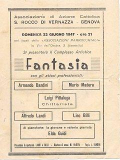 Armando Bandini Manifesto Opera Fantasia Avanspettacolo 1947