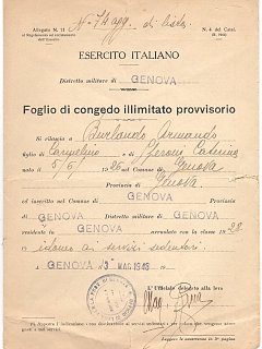 Armando Bandini Congedo Illimitato Biografia Aneddoti 1948