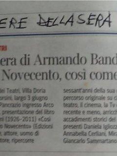 Armando Bandini La Carriera Corriere Della Sera Biografia Aneddoti 2013
