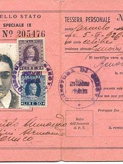 Armando Bandini Tessera Ferrovie Dello Stato Attore Comico Biografia Aneddoti 1948
