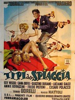 Armando Bandini Tipi Da Spiggia Locandina Cinema 1959