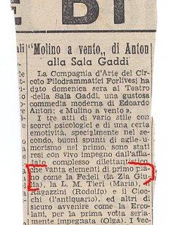 Emma Fedeli Critica Teatrale Il Giornale Dell Emilia Teatro 1942
