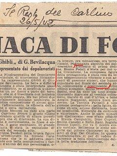 Emma Fedeli Critica Teatrale Resto Del Carlino Teatro 1942