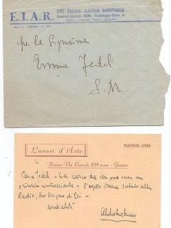 Emma Fedeli Ente Nazionale Audizioni Radiofoniche Radio 1943