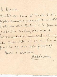Emma Fedeli Lettera Trabucco Audizioni Radiofoniche Radio 1943
