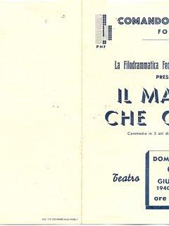 Emma Fedeli Manifesto La Filodrammatica Federale Forli Il Marito Che Cerco Teatro 1940