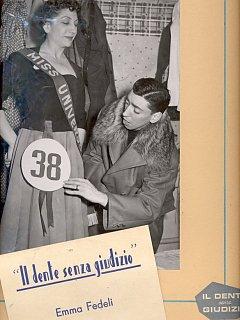 Armando Bandini E Emma Fedeli Foto Di Scena De Il Dente Senza Giudizio Al Nuovo Teatro 4 Fontane 1954