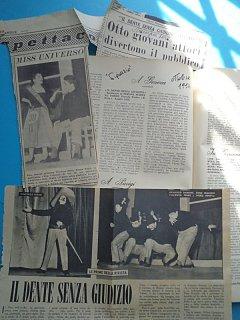 Armando Bandini E Emma Fedeli Recensione De Il Dente Senza Giudizio Al Nuovo Teatro 4 Fontane 4 1954