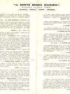 Armando Bandini Rassegna Stampa De Il Dente Senza Giudizio 1954