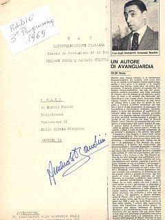 Armando Bandini Programma Radiofonico 10 Radio 1969