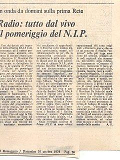 Armando Bandini Programma Radiofonico 11 Radio 1975