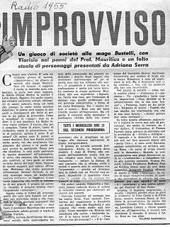 Armando Bandini Programma Radiofonico 13 Radio 1955