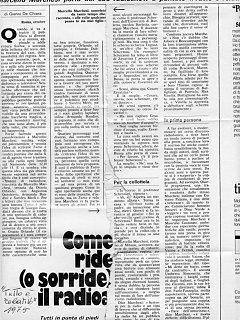 Armando Bandini Programma Radiofonico 14 Radio 1975