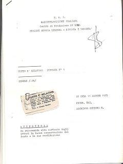 Armando Bandini Programma Radiofonico 15 Radio 1975