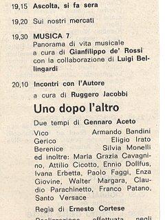 Armando Bandini Programma Radiofonico 16 Radio 1975