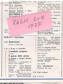 Armando Bandini Programma Radiofonico 5 Radio 1977