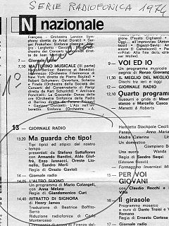 Armando Bandini Programma Radiofonico 6 Radio 1974