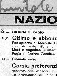 Armando Bandini Programma Radiofonico 7 Radio 1975