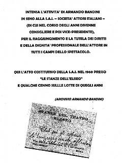 Armando Bandini Attivamente Presente Nella Sai 1960