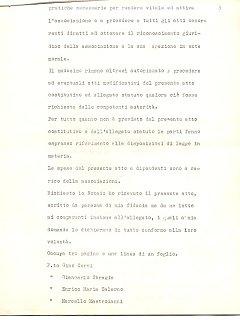 Armando Bandini Atto Costituzionale Della Sai Pag 3 4 Marzo 1960