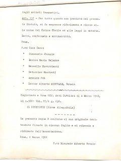 Armando Bandini Atto Costituzionale Della Sai Pag 7 4 Marzo 1960