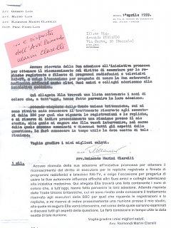 Armando Bandini E L Avvocato Raimondo Marini Clarelli In Merito Alla Sai 1959