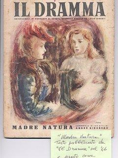 Armando Bandini Al Teatro Eleonora Duse Di Genova In Madre Natura Di Aldo Trabucco 1946