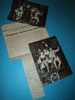 Armando Bandini Articoli Foto E Recensioni Della Commedia Il Volpone 2 1955