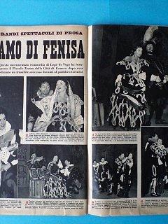 Armando Bandini Articolo Foto E Recensione Della Commedia L Amo Di Fenisa Di Lope De Vega 1954