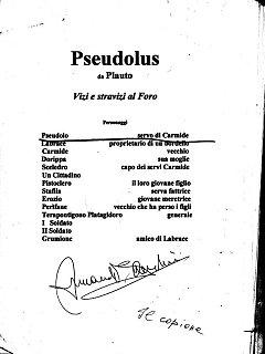 Armando Bandini Copione Di Pseudolus 2006