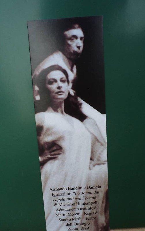 Armando Bandini con Daniela Igliozzi in La Donna dai Capelli Tinti con l'Henne Teatro dell'Orologio Roma 1989