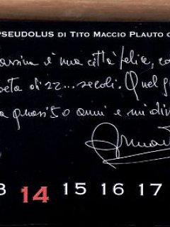 Armando Bandini Dedica Per Il Calendario Pseudolus 2006