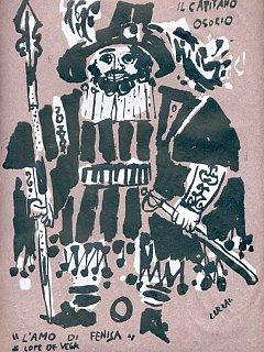 Armando Bandini Disegno Di Luzzati Per Il Costume Di Scena Per La Commedia L Amo Di Fenisa 2 1954