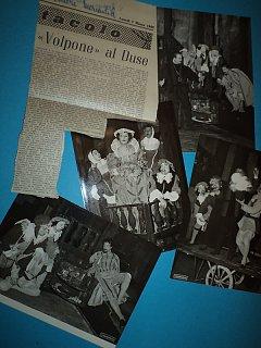 Armando Bandini Foto Di Scena E Giornali Della Commedia Il Volpone 2 1955