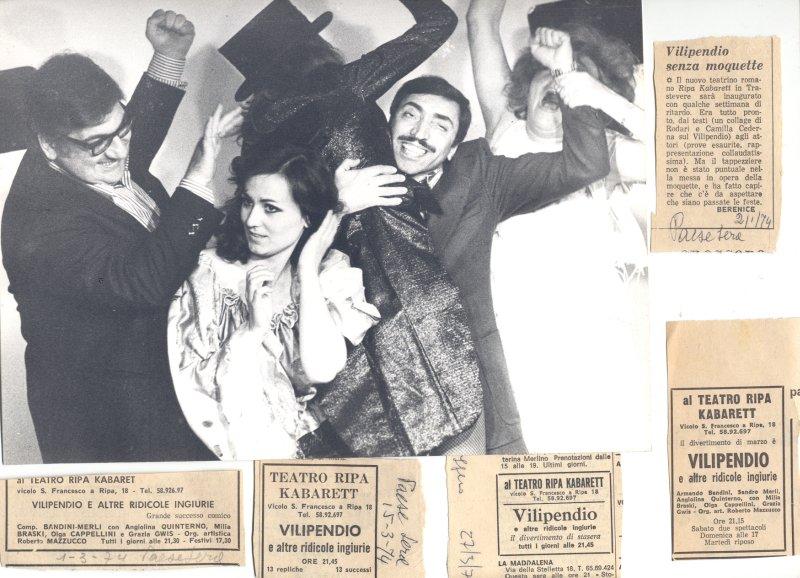 Armando Bandini in una foto di scena 1974