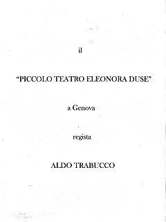 Armando Bandini Frontespizio Del Piccolo Teatro Eleonora Duse A Genova Con La Regia Di Aldo Trabucco 1953
