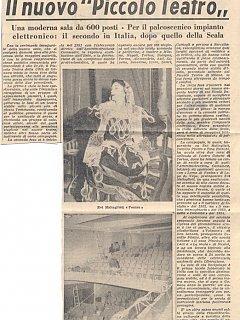 Armando Bandini Inaugurazione Della Nuova Sede Del Piccolo Teatro Di Genova 1953