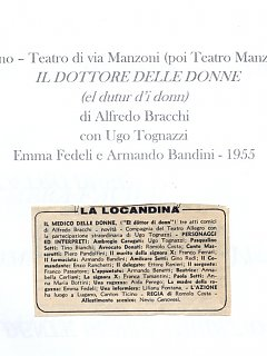 Armando Bandini Locandina Della Commedia Il Dottore Delle Donne 1955