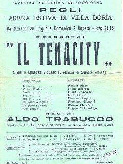 Armando Bandini Locandina Della Commedia Il Tenacity All Arena Villa Doria Di Pegli Genova 1953
