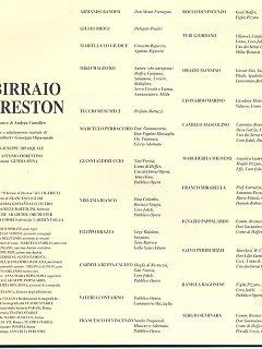Armando Bandini Locandina2 Della Commedia Il Birraio Di Preston 1999