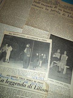 Armando Bandini Nella Commedia La Leggenda Di Liliom All Arena Villa Doria Di Pegli Genova 1953