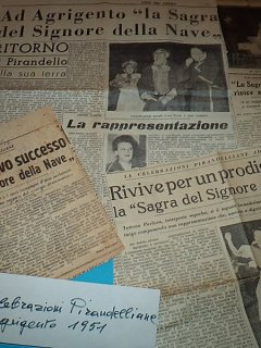 Armando Bandini Nella Commedia La Sagra Del Signore Della Nave Di Tatiana Pavlova Celebrazioni Pirandelliane Agrigento 1951