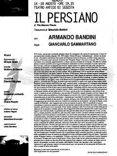 Armando Bandini Presentazione De Il Persiano 2000