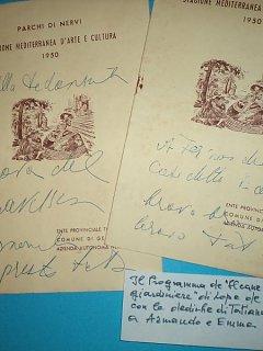 Armando Bandini Programma Della Commedia Il Cane Del Giardiniere Di Tatiana Pavlova 1950