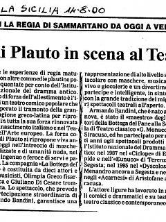 Armando Bandini Recensione De Il Persiano 2000
